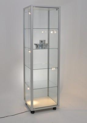 Glasvitrine 530x530x1835mm