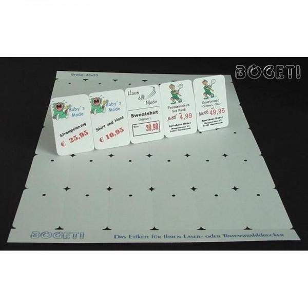 Bogeti-Etiketten für Laser- oder Tintenstrakldrucker