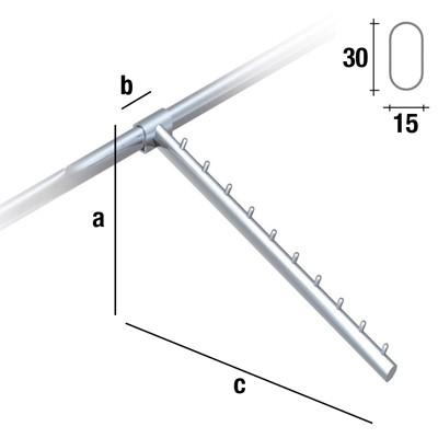 Schrägabhänger Länge 40cm für 30x15mm