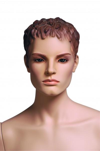 Sportfigur VANESSA, hautfarben mit skulpturiertem Haar