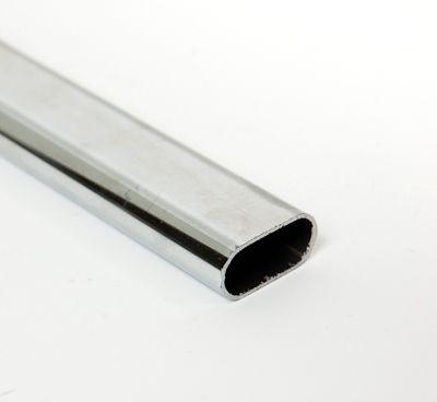 Flachovalrohr 30x15mm, Länge 3000mm verchromt