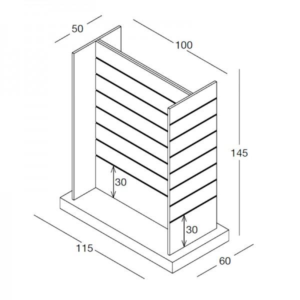 Mittelraum-H-Ständer - matt oder glänzend