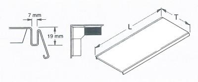 Stahlfachboden RAL9006