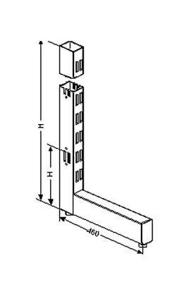 Regalständer aus Rohr 60x30x2mm