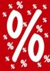 """Rahmenschild """"%""""-Zeichen"""