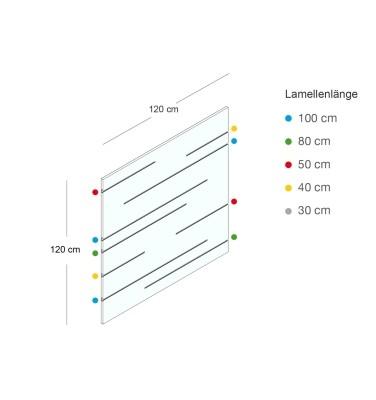 Lamellenwand TRIC & TRAC 120x120cm