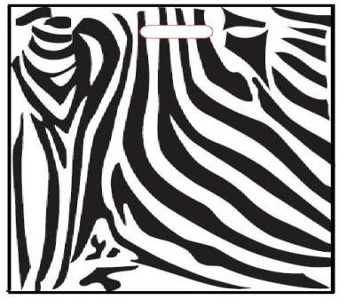 Grifflochtragetasche Zebra