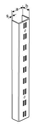 Wandschiene U-Profil 2-reihig, weiss-aluminium