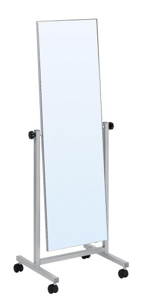 Standspiegel verchromt, Höhe 165cm