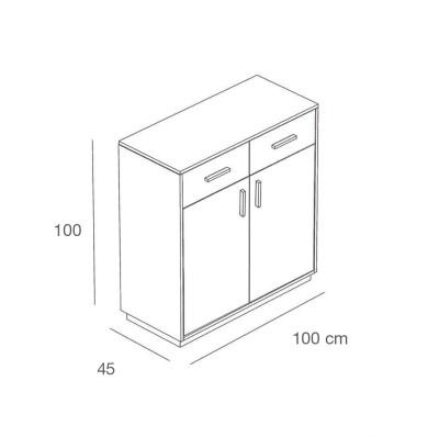 Kassen Sidebord ZERO - glänzend