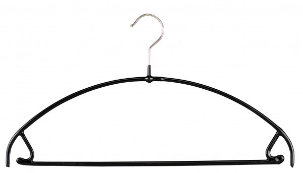 "Mawa-Kleiderbügel ""U"" schwarz oder silber (1 VE 30/50 Stück)"