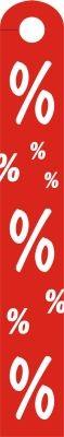 """Hänger """"%"""", Hart PVC"""