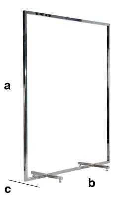 Abhängeständer satiniert Höhe 1500mm