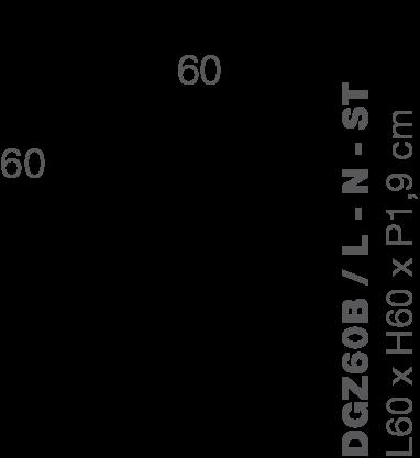 Lamellenwand ZIGO ZAGO 60x60cm