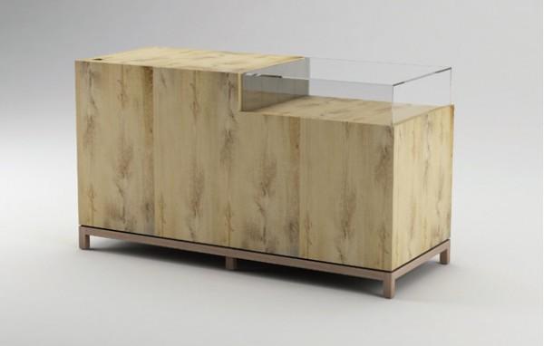 Kassen Counter NOVE 180 mit Glasvitrine