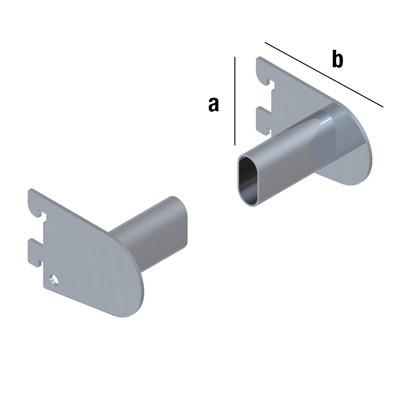 Haken für Flachovalrohr (Paar) 30/15mm