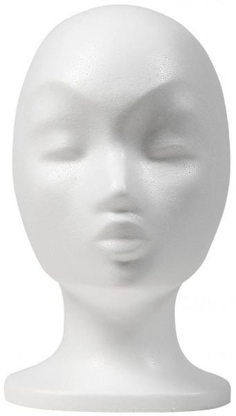 Perückenkopf Mona weiß, Höhe 29cm