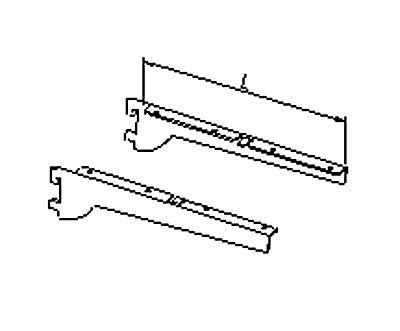 Konsole für Glas-/ Holzfachböden aufliegend
