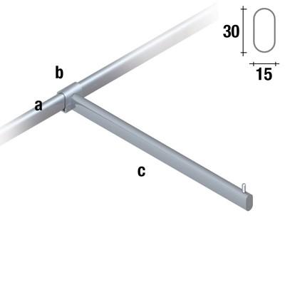 Abhängearm gerade Länge 38cm für 30x15mm.