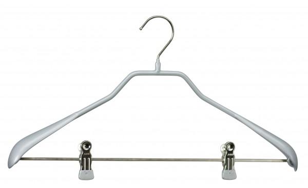 Mawa-Kleiderbügel 42/LK Bodyform schwarz oder silber (VE 20 Stück)