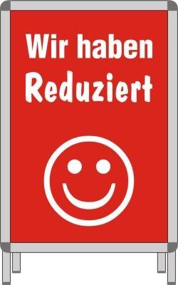 """Plakat DIN A1 """"Wir haben Reduziert"""""""