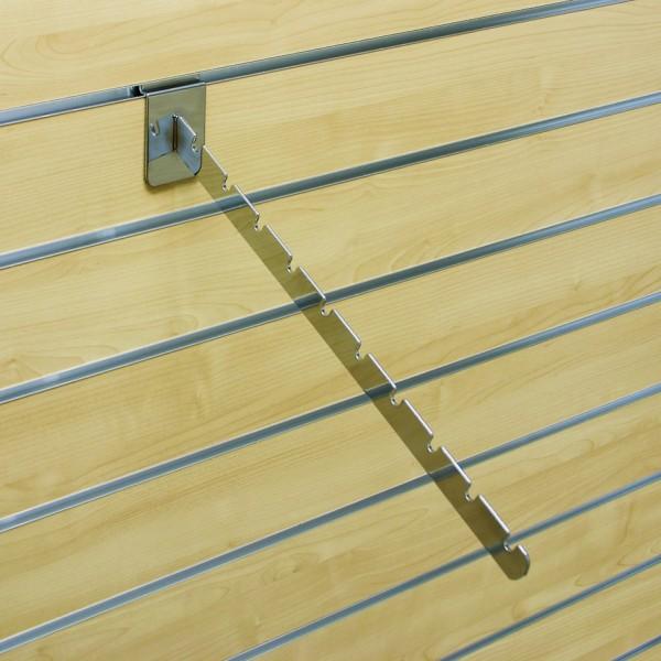Abhängearm schräg mit 10 Kerben, L410mm