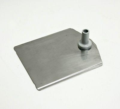 Fußplatte metall natur 190x160mm