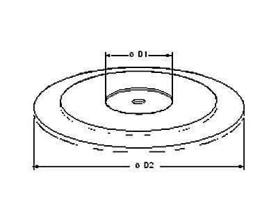 Rondo Fußscheibe 60x2,0mm