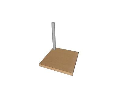 Holz-Standplatte in Buch
