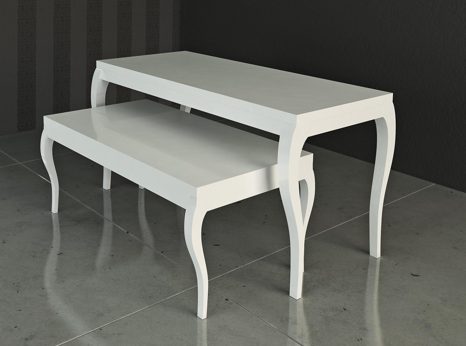 auslagen tisch 90 zero gl nzend wei oder schwarz m nchen. Black Bedroom Furniture Sets. Home Design Ideas