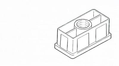 Rohreinsatz für Säule 60x30mm