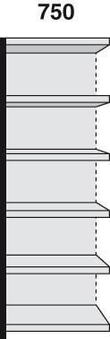 Magazin-Regal 75x30cm