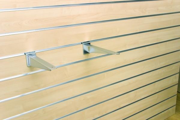Glas-/Holzregalkonsole mattchrom L250mm