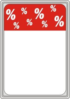 """Rahmenschild DIN A4 """"%""""-Zeichen"""