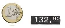 Einzelne Ziffern für Preisschildkassette 1310