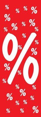 """Plakat """"%"""" Langbahn 48x138cm"""