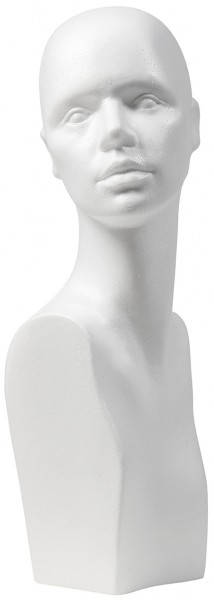 Perückenkopf Ira weiß, Höhe 52cm