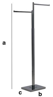 Abhängeständer mit 2 geraden Armen