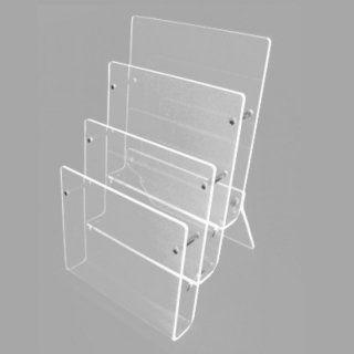 3-fach Tisch Prospektständer acryl