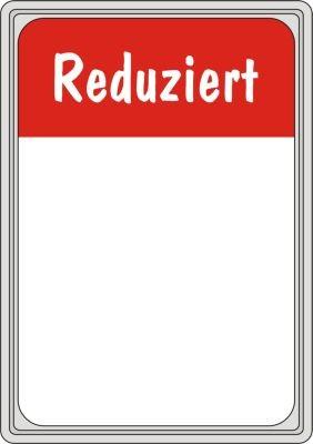 """Rahmenschild """"Reduziert"""" DIN A4"""