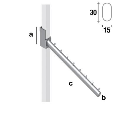Schrägabhänger für 25x25mm Vierkantrohr