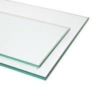 Glasplatte 8mm Float Breite 1250mm / Winkelkonsole