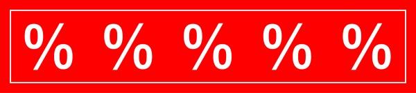 """Ankleber """"%""""-Zeichen"""