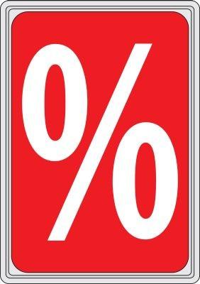 """Rahmenschild """"%""""-Zeichen DIN A4"""