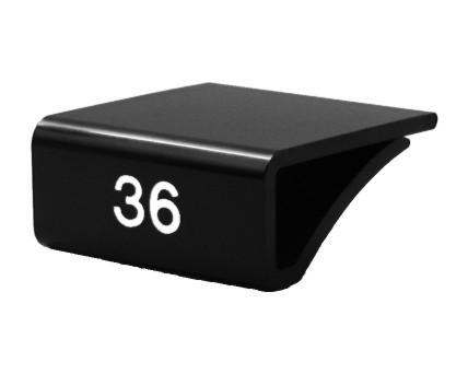 Glasbodenaufstecker MINI schwarz-weiß oder weiß-schwarz