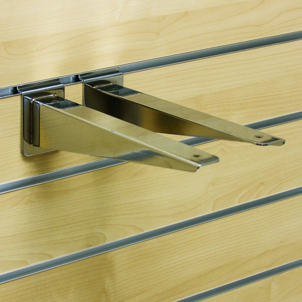 Glas/ Holzbodenträger verchromt