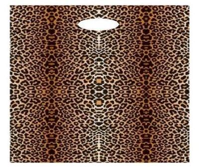 Grifflochtragetasche Leopard