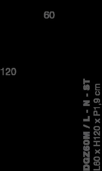 Lamellenwand ZIGO ZAGO 60x120cm