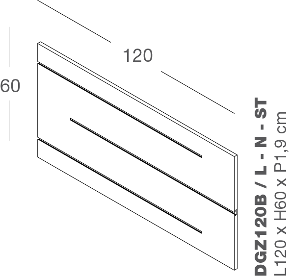 Lamellenwand ZIGO ZAGO 120x60cm
