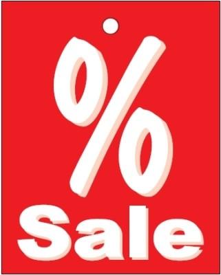 Aktionsetiketten aus Karton % Sale
